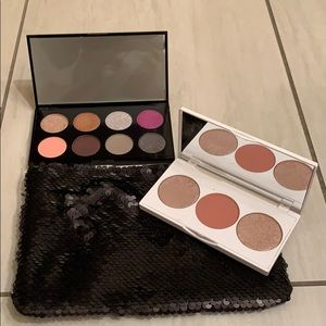 NWT Eyeshadow And Contour Pallets with Makeup Bag